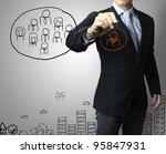 drawing social network... | Shutterstock . vector #95847931