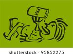 vector doodle of alcoholic... | Shutterstock .eps vector #95852275