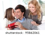 father's day celebration in... | Shutterstock . vector #95862061