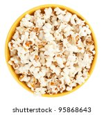 Bowl Of Popcorn Isolated On...