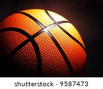 macro of a basketball against a ... | Shutterstock . vector #9587473