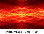 red lightning | Shutterstock . vector #95878204