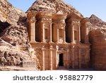 view of monastery in petra ... | Shutterstock . vector #95882779