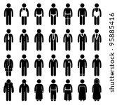 people man male fashion wear... | Shutterstock .eps vector #95885416