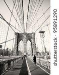 vintage photo of brooklyn... | Shutterstock . vector #95891290