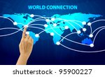 hand click world connection | Shutterstock . vector #95900227