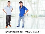two young happy teenagers... | Shutterstock . vector #95904115