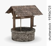 3d render of medieval well | Shutterstock . vector #95906725