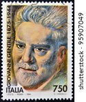 italy   circa 1994  a stamp... | Shutterstock . vector #95907049