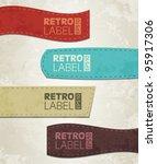 retro grunge labels | Shutterstock .eps vector #95917306