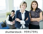 portrait of business team in... | Shutterstock . vector #95917591