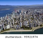 Stock photo vancouver aerial metro vancouver bc west end and downtown british columbia canada 95921974