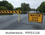 Flooded Australian Road With...