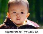 chinese baby - stock photo