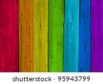 Old Wood Plank Rainbow...