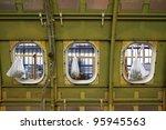 Airplane under heavy maintenance. - stock photo