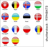 icons with flags of european... | Shutterstock .eps vector #95948473