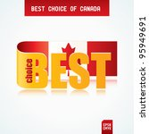 best choice tag with canadian...   Shutterstock .eps vector #95949691