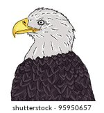 eagle head painting | Shutterstock . vector #95950657