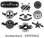 set of vintage label collection ... | Shutterstock . vector #95955463