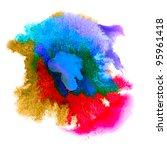 Color Spot Purple Macro Blotch...