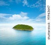 tropical island. square... | Shutterstock . vector #95963647
