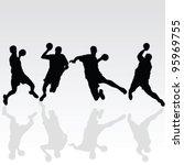 handball black player... | Shutterstock .eps vector #95969755