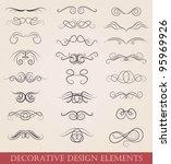 vector set calligraphic design... | Shutterstock .eps vector #95969926