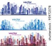 city skylines | Shutterstock .eps vector #95972578