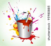 vector holi festival colorful... | Shutterstock .eps vector #95980885