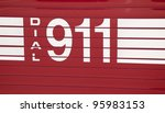 dial 911   decal on side of a... | Shutterstock . vector #95983153