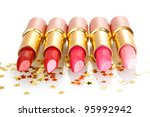 beautiful lipsticks isolated on ... | Shutterstock . vector #95992942
