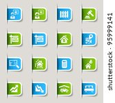 label   real estate icons | Shutterstock .eps vector #95999141