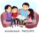 illustration of a family... | Shutterstock .eps vector #96012491