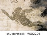 angel mosaic uncovered in... | Shutterstock . vector #9602206