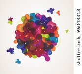 eps10 vector multicolor... | Shutterstock .eps vector #96043313