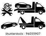 car towing truck icon. | Shutterstock .eps vector #96055907