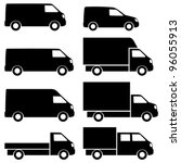 commercial van icons set. see... | Shutterstock .eps vector #96055913