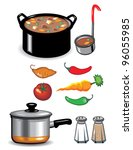 soup icons | Shutterstock .eps vector #96055985