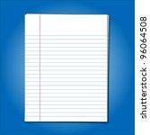 blank stack white note paper on ... | Shutterstock .eps vector #96064508