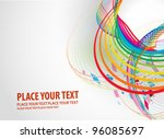 abstract colorful rainbow swirl ... | Shutterstock .eps vector #96085697
