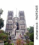 saint joseph cathedral   hanoi  ...   Shutterstock . vector #96092405