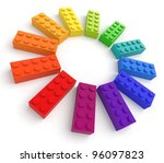 Colored Toy Bricks. See My...
