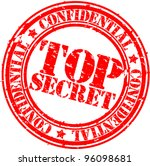 Grunge Top Secret Rubber Stamp Vector Illustration