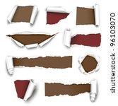 torn paper. vector illustration | Shutterstock .eps vector #96103070