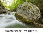The Mountain River In The...