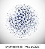image of the molecular... | Shutterstock .eps vector #96110228