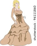 bridesmaid dress  isolated | Shutterstock . vector #96111860