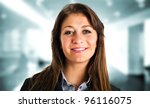 beautiful woman portrait | Shutterstock . vector #96116075