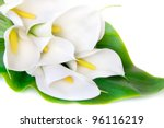 White Calla Lilies With Big...